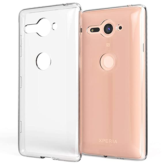 buy popular 16d16 f9ba6 NALIA Case Compatible with Sony Xperia XZ2 Compact, Transparent Back-Cover  Ultra-Thin Protective Silicone Soft Skin, Shockproof Crystal Clear Bumper  ...
