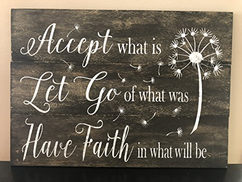 Rustic pallet sign Accept what is Let go of what was Have Faith in what will be pallet sign wood sign home decor inspirational signs by WoodenSign