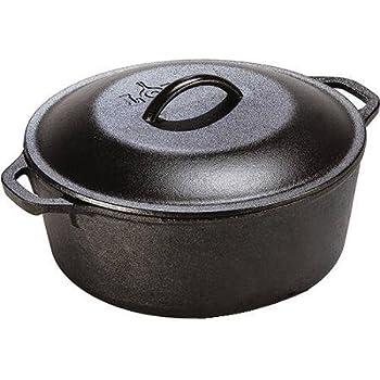Lodge Logic Black 7 Quart Cast Iron Dutch Oven