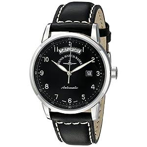 Zeno Men's 6069DD-C1 Magellano Black Day Date Dial Watch