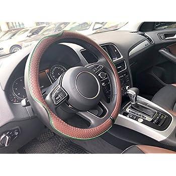 299cf120890527 AutoFurnish (AFSC-SP603-BLBR Universal Premium Leatherite Car Steering  Wheel Cover - Medium Size (14.5-15 inchs)