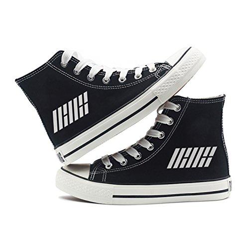 Fanstown Kpop Sneakers Canvas Shoes Donna Taglia Nera Fanshion Memeber Hiphop Style Fan Support Con Lomo Card Ikon