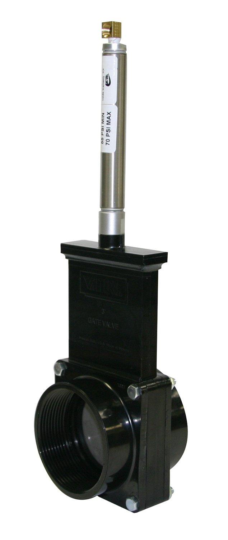 Valterra 9307S ABS Gate Valve, 3'' FPT, Metal Air Cylinder