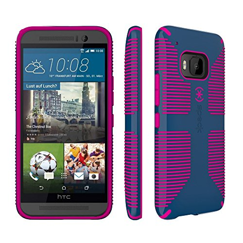 Speck Products Cell Phone Case for HTC One M9 - Retail Packaging - Deep Sea Blue/Lipstick Pink