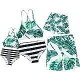 Hwaikun Family Matching Swimsuit Floral Bikini Girl Bathing Suit Boy Swimwear Outfits Sets