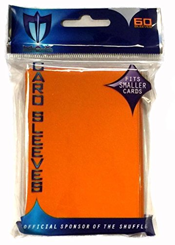 YuGiOh MAX Protection 60 Count Gaming Card Sleeves Flat Orange