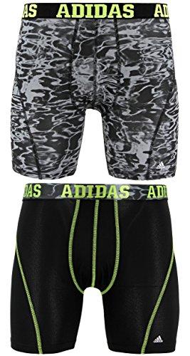 rformance Climacool 2 Pack Boxer Brief Underwear, Colornameinternal| black/Semi Solar Slime, Medium (Express Brief)
