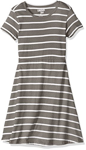 Heather Grey Stripe Dress - 3