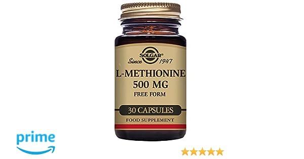 Solgar L-Metionina Cápsulas vegetales de 500 mg - Envase de 30