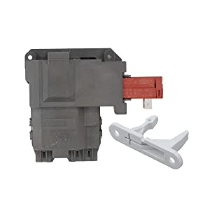 ApplianPar 131763202 Washer Door Lock Switch Assembly with 131763310 Striker for Frigidaire Electrolux Washing Machine 131763256,0131763202 131269400 131763200 AP4455026