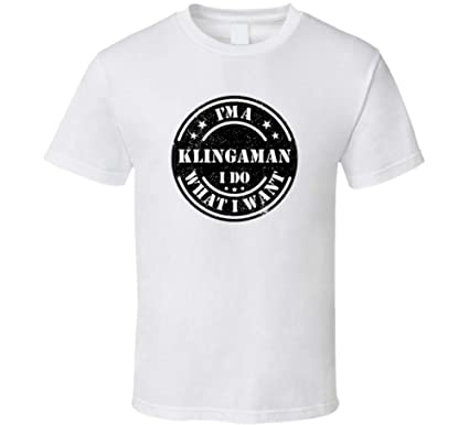 I'm a Klingaman I Do What I Want Tee Funny Last Name Family