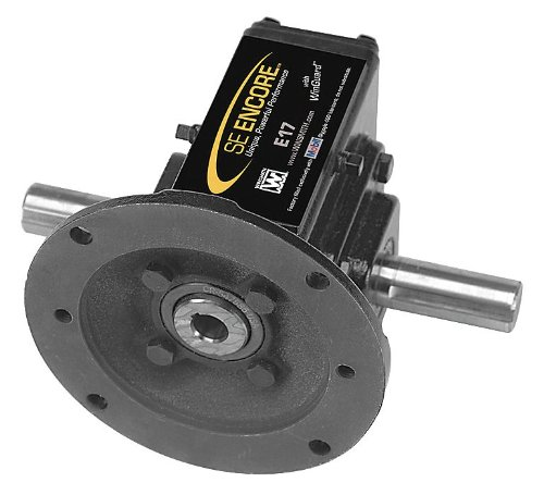 2130 lb Winsmith E35MWNS 20 Double Output Overhung Load Washdown Cast Iron C-Face Speed Reducer