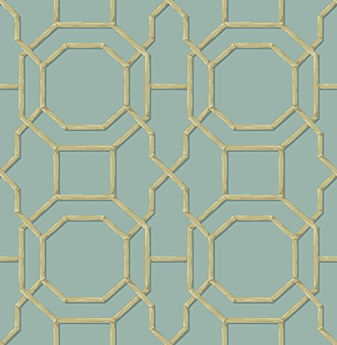 Beacon House 2669-21737 Summer Trellis Wallpaper, Turquoise (Trellis Summer)