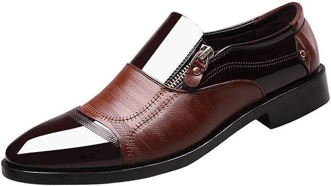 Kinlene Chaussures daffaires pour Hommes,Mode Nouveau Chaussures Habill/ées pour Hommes Soulier en Motif de Chaussure de Ville sans Zipper R/ésistance /à lusure