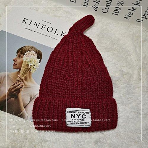 Señora Beanies Invierno Caliente Grueso Tejer Sombrero Elástico ... a46fcc8f471