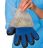 Wondsh Pet Grooming Glove,Efficient Pet Hair Remover,Gentle Deshedding Brush Glove - Massage Tool - For All Long & Short Fur, Deshedder, Pet Care- canine, cat, guinea pig, horse, Fur Care