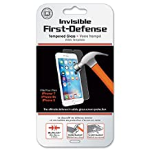 iPhone 7 Screen Protector, Qmadix Invisible First-Defense Tempered Glass 9H for iPhone 7, 6, 6s - Compatible with iPhone 7, iPhone 6, and iPhone 6s