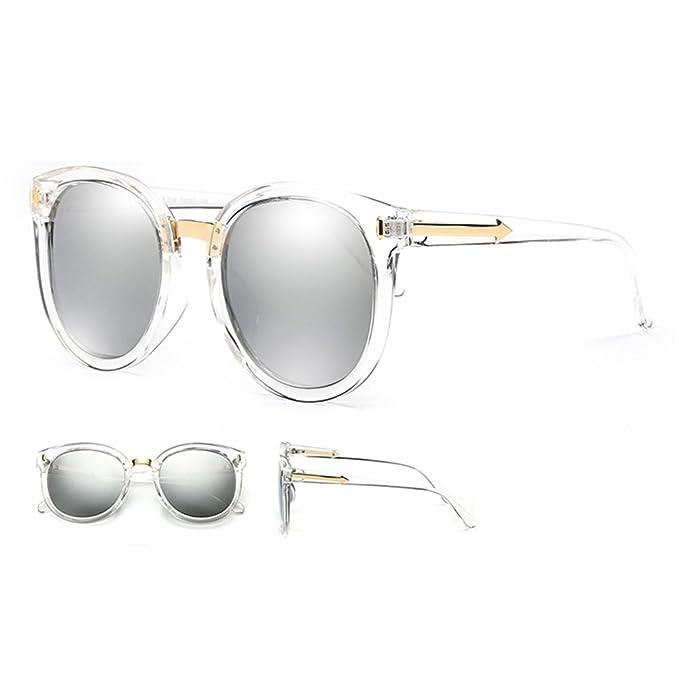 ZHIRONG Vintage Mode Runde Pfeil Stil Wayfarer Polarisierte Sonnenbrille für Frauen ( Farbe : A ) uyv7yc