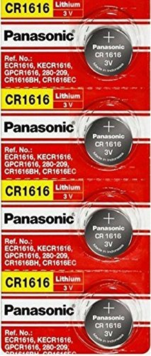 Panasonic CR1616 3V Coin Cell Lithium Battery, Retail Pack of 4
