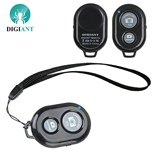 DIGIANT Bluetooth Shutter Remote Control Bluetooth Wireless Selife Camera Remote with Wrist Strap for iPhone,Smartphones (Ipad 4 Remote Control)