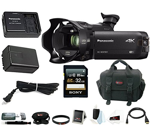 Panasonic HC-WXF991K 4K Ultra HD Camcorder w/ Power Pack  &