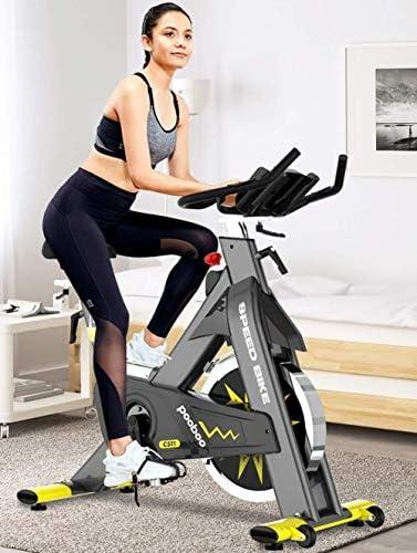 ZT-TTHG 調節可能なエクササイズバイク、エアロバイク、ホームジムの使用のための心拍数センサー液晶ディスプレイプロフェッショナルエアロバイクと屋内サイクルバイク、