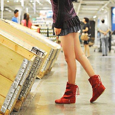 Ch & Tou Femmes-bottines-formel / Décontracté-autres-wedge-faux Cuir-noir / Marron / Jaune / Rouge, Rouge, Us10.5 / Eu42 / Uk8.5 / Cn43