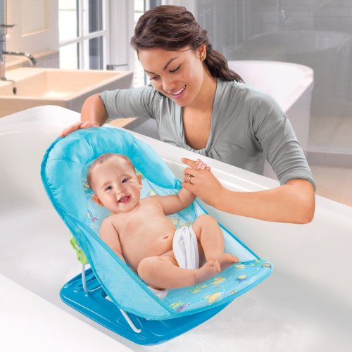 012914185001 - Summer Infant Deluxe Baby Bather, Blue carousel main 4