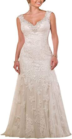Unbranded Yipeisha Sweetheart Neckline Lace Tulle Over Satin Wedding Dress At Amazon Women S Clothing Store,Golden Wedding Anniversary Dresses