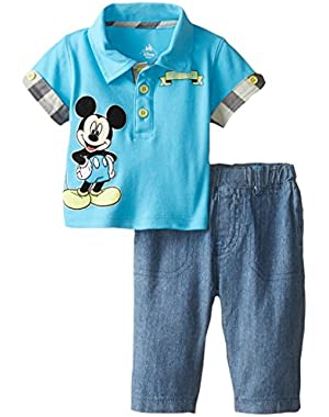 Baby Boys' Mickey Mouse 2 Piece Pant Set