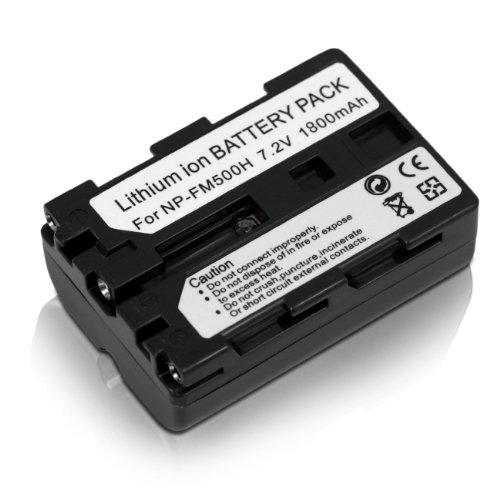 (2 Pack) Vivitar NP-FM500H Battery and Charger Kit for SONY Alpha A58, A57, A65, A77, A99, A900, A700, A580, A560, A550, A850 - Includes: 2 Vivitar High Capacity Rechargeable 1800mAH Li-ion Batteries