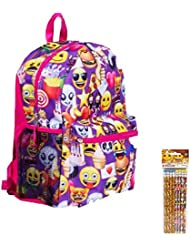Emoji Kids Backpack & Pencils Pack