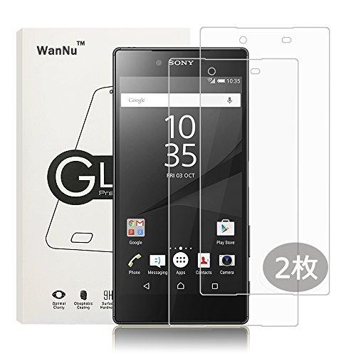 輸血ブラウン狂うWanNu Sony Xperia Z5 Premium 強化ガラスフィルム 5.2インチ 透明性99% 9H硬度 耐衝撃 厚さ超薄 飛散防止 撥油性 指紋防止 保護フィルム