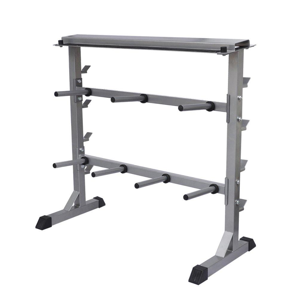 Daonanba Dumbbell Barbell Rack Exercise & Fitness Mashine 1' 7'' x 3' 3'' x 3' 1'' Gray by Daonanba