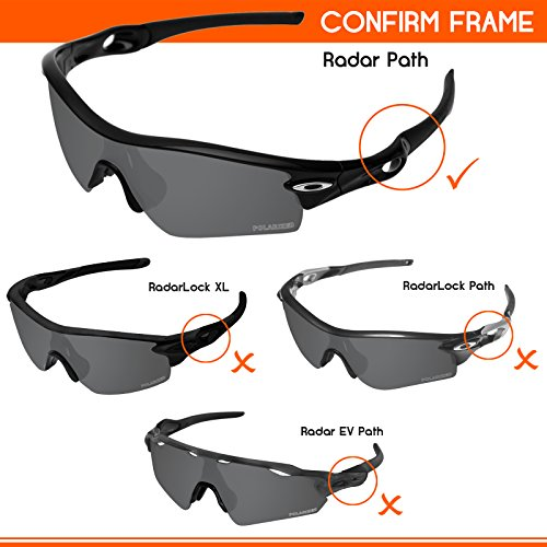 9c9b0a63e8 Tintart Performance Lenses Compatible with Oakley Radar Path Polarized  Etched
