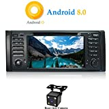 XISEDO Android 8.0 In-Dash 1 Din 7″ Car Stereo Autoradio 8-Core Head Unit RAM 4G ROM 32G Sat Nav Car GPS Navigation with DVD Player for BMW X5-E53/BMW 5-E39 (with Backup Camera) For Sale