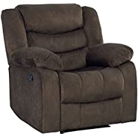 Standard Furniture 4170021 Ridgecret Recliner with Manual Motion, Dark Brown