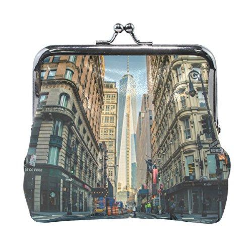 Leather Coin Purse Clutch Pouch Handbag with World Trade Center In Manhattan Walletfor Women Girls - In Manhattan Centers Shopping