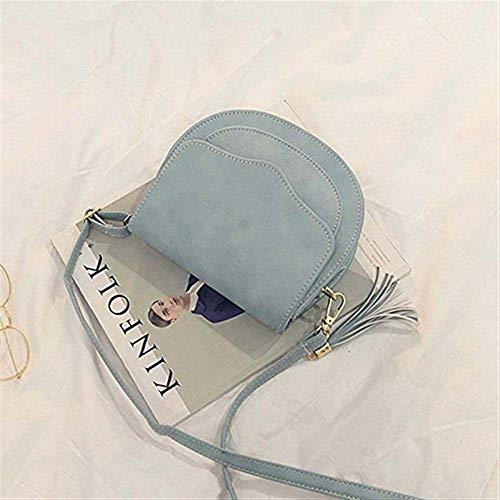 a tracolla Moontang pelle mini donna con in Dimensione Grigio nappe da Blu Borsa Colore 5qBEEwTZ