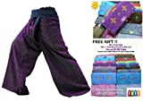 VERY NICE 2 TONE Thai Fisherman Pants Yoga Trousers With Complimentary For Sale