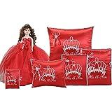 Quinceanera Complete Set Doll Guest Book Kneeling Tiara Pillow Photo Album Bible Q1051 (Basic set + English Bible)