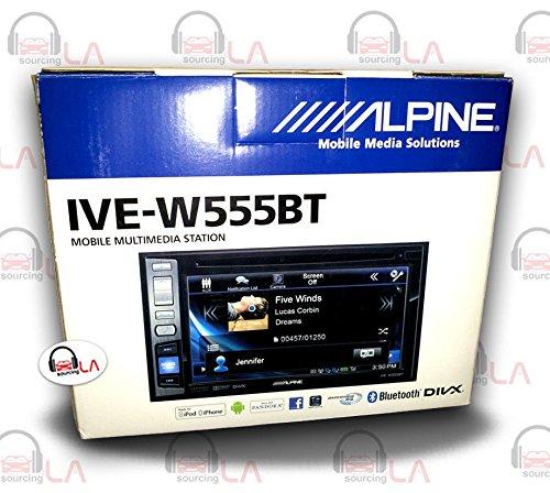 Alpine IVE-W555BT Double-Din In-Dash DVD Receiver w/ Blue...