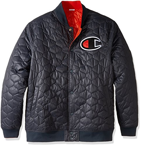 (Champion LIFE Men's C Series Jacket, Stealth/Orange, 2XL)