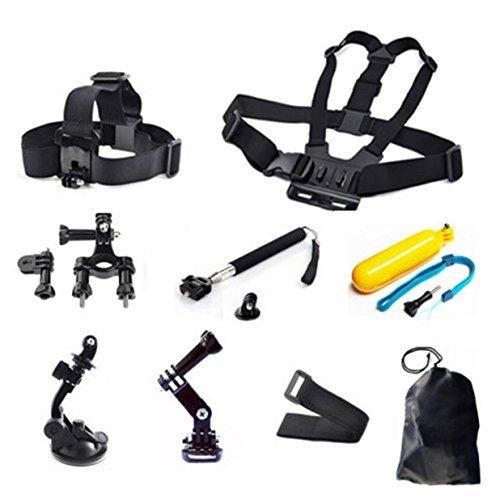 26 In 1 Hero GoPro Mount Case Accessories Head Chest Monopod Kit 2 3 4 5 Camera
