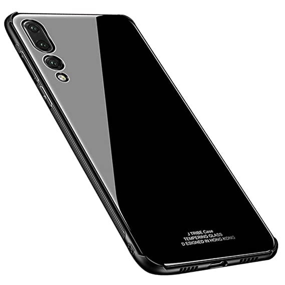 the latest 04179 bc4af Kepuch Quartz Huawei P20 Pro Case - TPU + Tempered Glass Back Cover for  Huawei P20 Pro - Black
