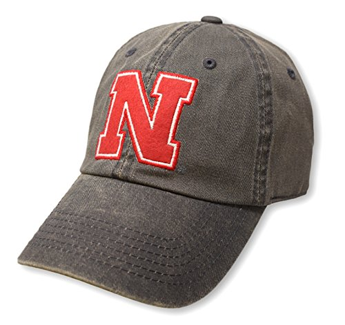 Top of the World NCAA Nebraska Cornhuskers Men's Adjustable Dispatch Charcoal Icon Hat, Charcoal