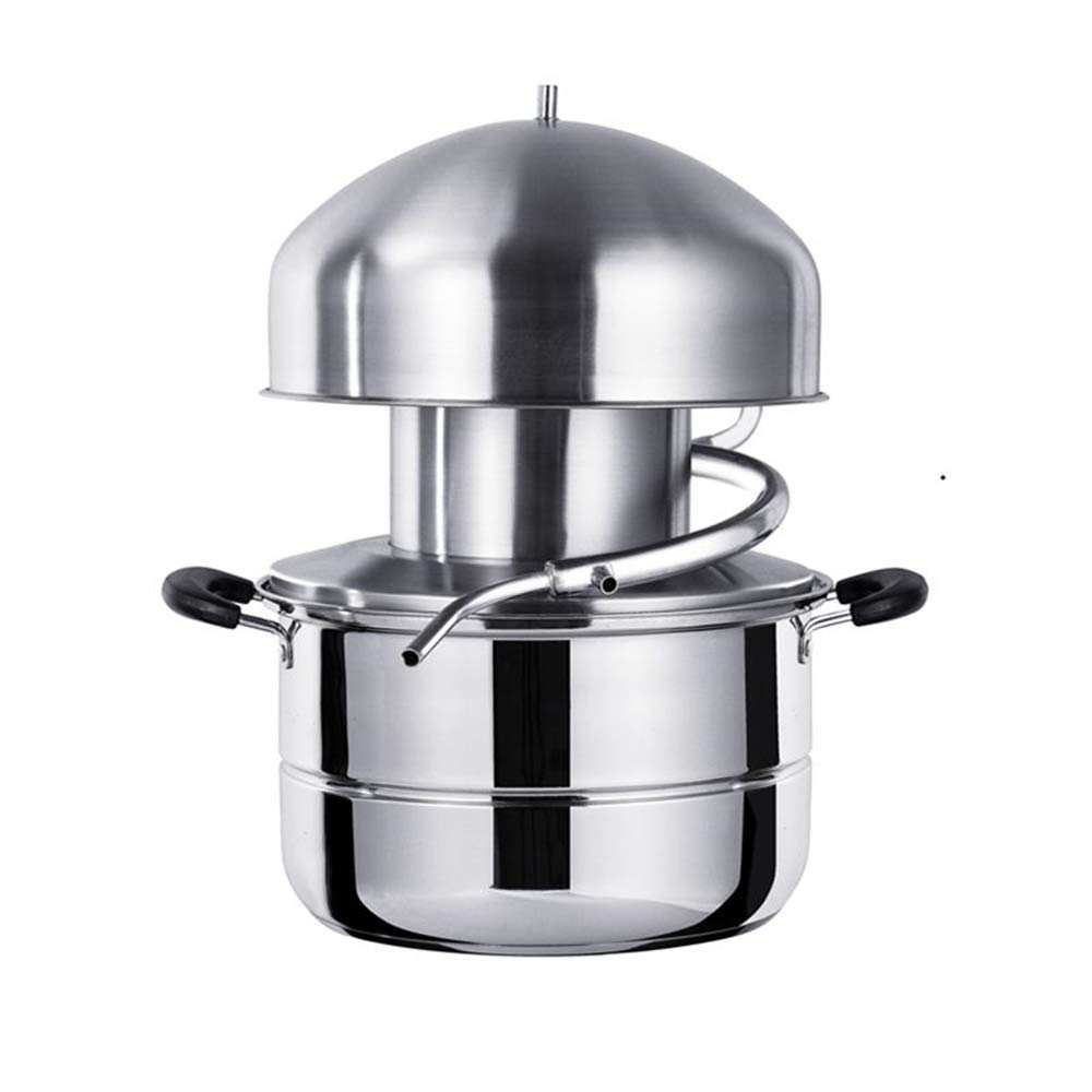 Stainless Steel Distiller For Water,Wine,Oil Alcohol Essential Oil Separator (10L) by sanheng fire