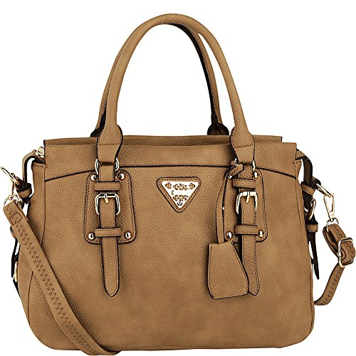 MKF Collection by Mia K. Farrow Blake Satchel (Beige)