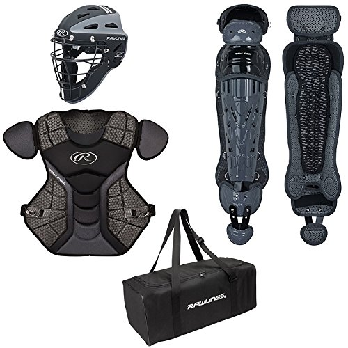 (Rawlings  Velo Age 12 & Up Catcher's Set, Black/Graphite)