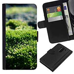 All Phone Most Case / Oferta Especial Cáscara Funda de cuero Monedero Cubierta de proteccion Caso / Wallet Case for LG G3 // Green Nature Sun Summer